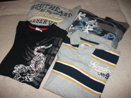 Jungenbekleidung: 2x Pullover mit Kapuze / 1x Langarmshirt / 1x T-Shirt... Gr.158/164