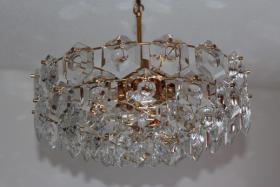 KINKELDEY Crystal Decken Lampe Leuchter Kristallglasleuchter 24 Karat goldplated