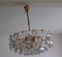 Foto 2 KINKELDEY Crystal Decken Lampe Leuchter Kristallglasleuchter 24 Karat goldplated