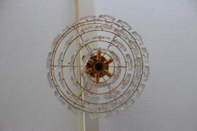 Foto 3 KINKELDEY Crystal Decken Lampe Leuchter Kristallglasleuchter 24 Karat goldplated