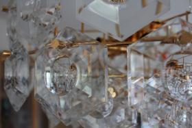 Foto 4 KINKELDEY Crystal Decken Lampe Leuchter Kristallglasleuchter 24 Karat goldplated