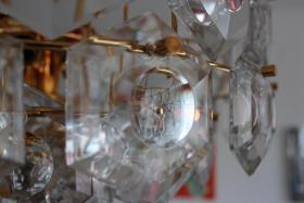 Foto 5 KINKELDEY Crystal Decken Lampe Leuchter Kristallglasleuchter 24 Karat goldplated