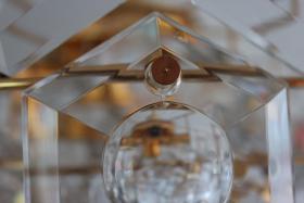 Foto 7 KINKELDEY Crystal Decken Lampe Leuchter Kristallglasleuchter 24 Karat goldplated
