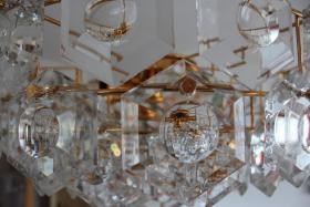 Foto 8 KINKELDEY Crystal Decken Lampe Leuchter Kristallglasleuchter 24 Karat goldplated