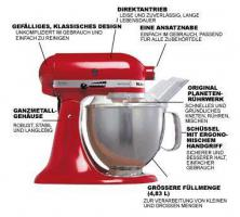 KITCHEN AID Küchenmaschine in Empire Rot