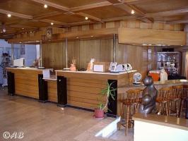 Rezeption unseres Eden Rock Hotels (mit W-LAN)