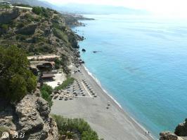Strand der Agia Fotia ausgezeichn. mit der ''Blauen Flagge'' der EU