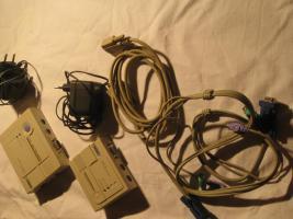 Foto 3 KVM Extender (Switch) PC und Server Fernsteuerung bis 150 m über das Netzwerk LAN (CAT 5)