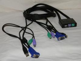 KVM-Umschalter PS/2 mit USB-Umschaltung für 2 PC`s