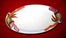 Foto 2 Käseplatten aus italienischer Keramik