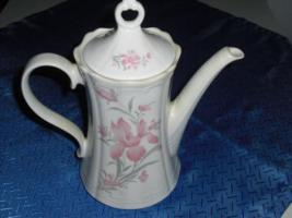 Kaffeekanne rosa/weiß Design