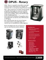 Kaffeemaschine ''OPUS-Rotary''
