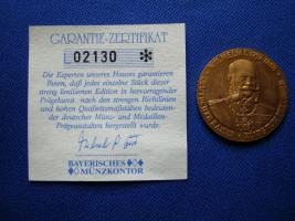 Kaiser Wilhelm 1 hartvergoldet