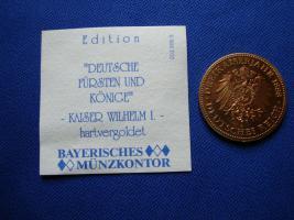 Foto 2 Kaiser Wilhelm 1 hartvergoldet