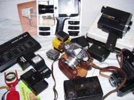 Kamera´s, Fotoaparate, Wiedergabeprojektor 8mm /DDR an Liebhaber