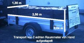 Foto 6 Kaminholz Pappel Kaminfertig gesäg und gespalten abgelagert