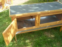 Foto 3 Kaninchenstall , Hasenstall mit Kleintierhaus zu verkaufen