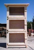 Kaninchenstall / Meerschweinchenstall Zuchtboxen 3er Stall 72x62x55