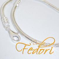 Karabiner-Armband für Beads 925 Sterling Silber ca. 21 cm