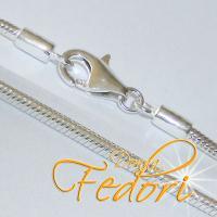 Karabiner-Halskette Snake Two 925 Sterling Silber ca. 45 cm