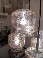 Foto 3 Kaskade Lampe Hängelampe 6 flammig, Glass, Chrom DORIA, 60er 70er