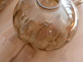 Foto 7 Kaskade Pendelleuchte Hängelampe 4 flammig, Glas Schirm, und Chrom Gestell