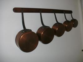 Kassarollen aus Kupfer