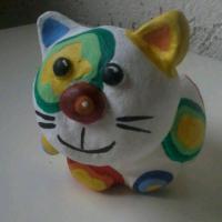 Katze aus Ton