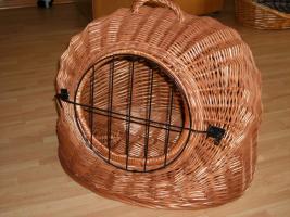 Katzen-Transportkorb Weide 50 cm Durchmesser - kaum gebraucht