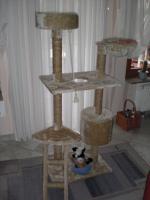 Katzenbaum beige ca. 1,40 hoch