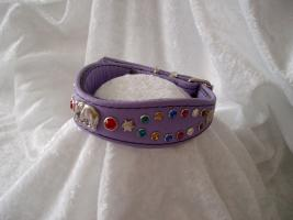 Katzenhalsband mit Strass '' African Star '' Crown Cat design