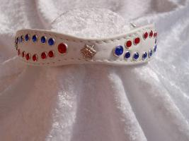 Katzenhalsband '' American Star '' Crown Cat design