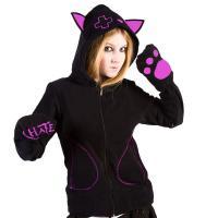 Katzenohren Ohren Sweatjacke Hoodie  Visual M