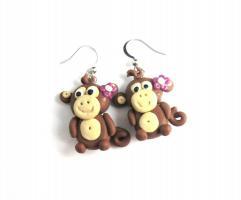 Kawaii Affen Mädchen Ohrringe