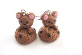 Kawaii ' Bärchen mit Keks ' Ohrringe