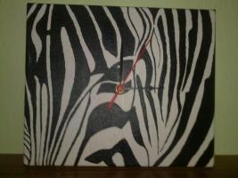 Keilrahmen, African-Style mit integrierter Uhr!