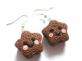 Keks Sternchen Ohrringe