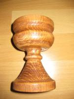 Kerzenhalter aus massivem Holz, Handarbeit