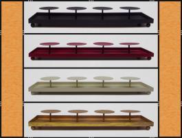 Kerzenhalter, Dekotablett, klein, dekorierbar, in 4 Farben – Metall (45 cm)