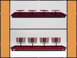 Foto 3 Kerzenhalter, Dekotablett, klein, dekorierbar, in 4 Farben – Metall (45 cm)