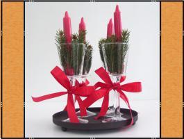 Kerzenhalter, Stielglas – mundgeblasen (7 x 20)