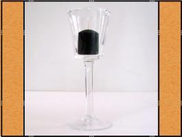 Foto 4 Kerzenhalter, Stielglas – mundgeblasen (7 x 20)