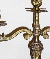 Foto 2 Kerzenständer - Gusseisen, vermessingt