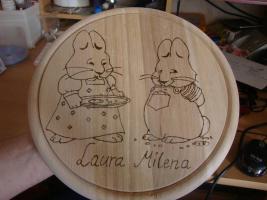 Foto 4 Kinder- Frühstücks - Bretter - Mit Wunschname *NEU* Filly Fairy, Hello Kitty