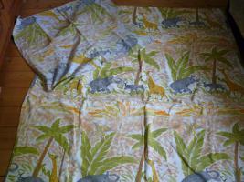Kinderbettwäsche-Set 4-teilig Motiv:Dschungeltiere aus Biber