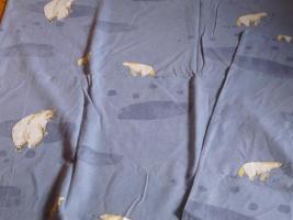 Kinderbettwäsche-Set  4-teilig aus Biber Motiv: Eisbär