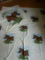 Kinderbettw�scheset aus Baumwolle Motiv: Pferd