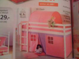 Kinderhochbett mit Leiter und Rutsche