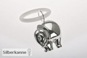 Kinderrassel/Greifring mit Beissring Elefant L7cm Sterlingsilber