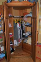 Foto 4 Kinderzimmer mit Eckschrank, Hochbett & Kommode Kiefer massiv